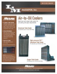 Air-to-Oil Coolers - L&M Radiator Inc.