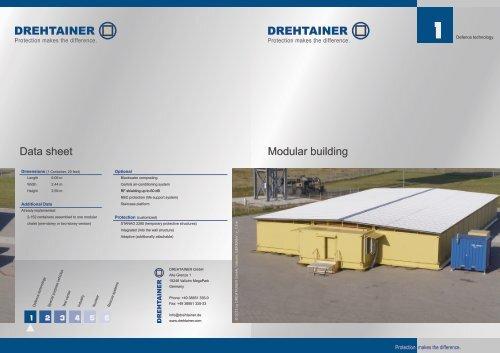 Data sheet Modular building - Drehtainer.com