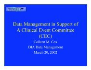 Data Management in Support of A Clinical Event Committee (CEC)