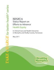Health Equity Report - Healthy Memphis Common Table