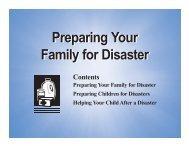 Family Plan for Disaster - Fisheries