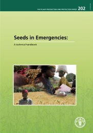 FAO: Seeds in Emergencies (2010) - Food Security Clusters