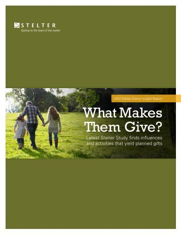 What Makes Them Give? - 2013 DFW Philanthropy Conference