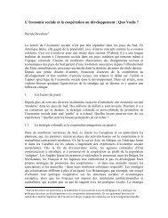 L'économie sociale et la coopération au développement ... - UQO