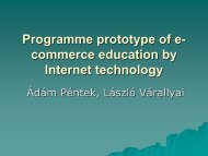 Programme prototype of e
