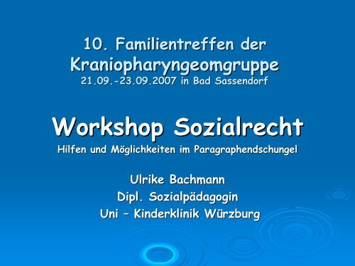Workshop Sozialrecht