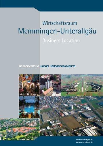 Standortbroschüre Memmingen-Unterallgäu - Wirtschaftsportal