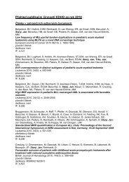 Publikační činnost v roce 2010 - Klinika dětské hematologie a ...