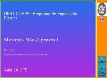Aula 14 - Programa de Engenharia Elétrica - UFRJ