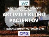 škola myelomu pre pacientov 2009 - Nadační fond Česká ...