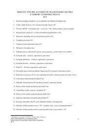Otázky na štátnu záverečnú skúšku z predmetu Európske právo pre ...