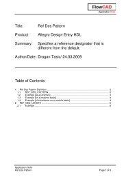 Title: Ref Des Pattern Product: Allegro Design Entry HDL ... - FlowCAD