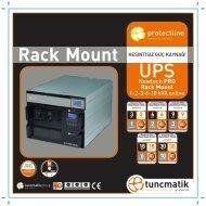 Newtech Pro Rack Mount Türkçe Broşür - Tuncmatik