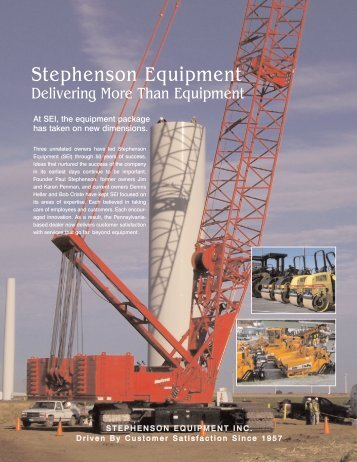 Delivering More Than Equipment