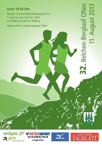 Belchen-Berglauf O lten 11. August 2013 - Jura-Top-Tour