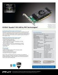 NVIDIA® Quadro® NVS 420 by PNY Technologies®