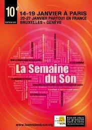 Le programme - La Semaine du Son