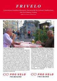 PDF (4.8 MB – highresolution) - PRO VELO Fribourg / Freiburg