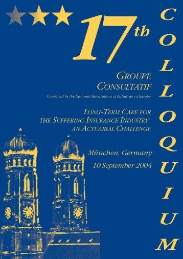 1 7 th COLLOQUIUM