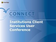 Institutions Client Services User Conference - Broadridge