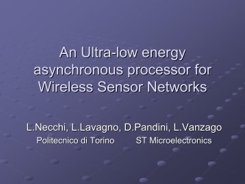 An Ultra-low energy asynchronous processor for Wireless Sensor ...