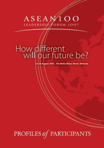 Download the official ASEAN 100 Leadership Participants Profiles