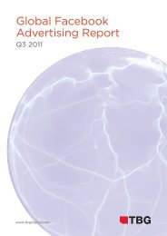 2011 Global Facebook Advertising Report - TBG Digital