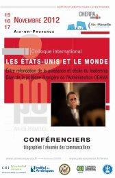 LES ÉTATS-UNIS ET LE MONDE - Sciences Po Aix