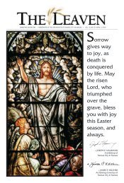 Sorrow gives way to joy, as death is conquered by life ... - The Leaven