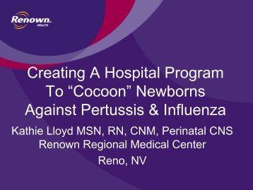 """Cocoon"" Newborns Against Pertussis & Influenza - ANTHC"