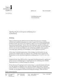 Uppdrag att göra en översyn av avskiljning m.m. - Statens ...