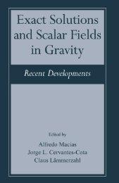 Exact Solutions and Scalar Fields in Gravity - Instituto Avanzado de ...