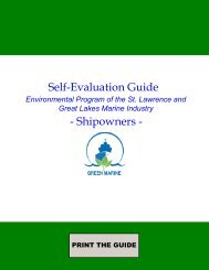 Self-Evaluation Guide - Shipowners - - Port Compliance.org