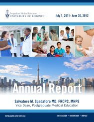 PGME Annual Report 2011/12 - Post Graduate Medical Education ...