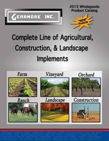 2013 complete product catalog - Gearmore, Inc.