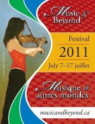 programme du festival 2011 - Music & Beyond