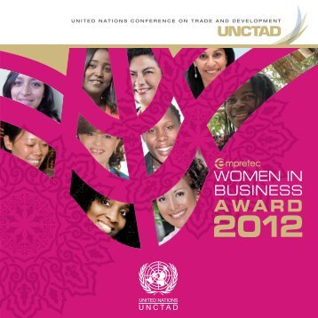 Empretec Women in Business Award 2012 publication - Unctad XI