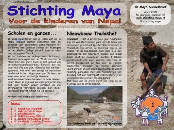 April - Stichting Maya
