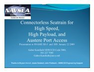 Connectorless Seatrain for High Speed, High Payload, and Austere ...