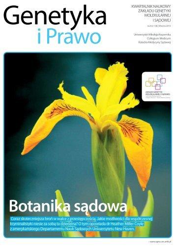 (8) - Wiosna 2010 - Zakład Genetyki Molekularnej i Sądowej ...