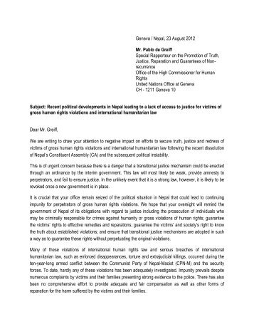 human rights cover letter
