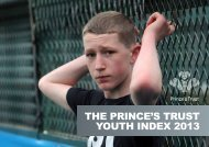 The Prince's TrusT YouTh index 2013