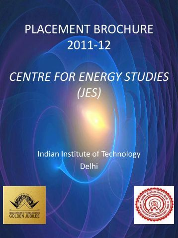 centre for energy studies - Training & Placement, IIT Delhi - Indian ...