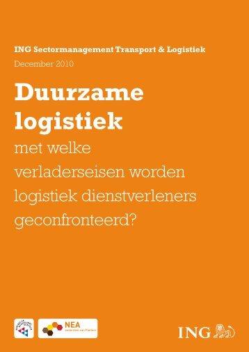 Duurzame logistiek - Netwerk Agrologistiek