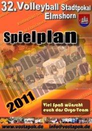 Spielplan 2011 - Volleyball Stadtpokal Elmshorn