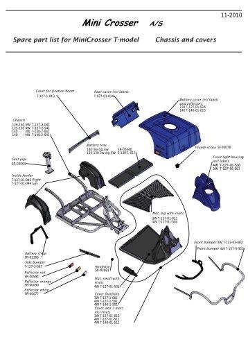 Spare part list for MiniCrosser T-model Wheels