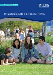 The Undergraduate experience at Henley - Henley Business School