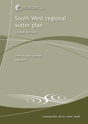 South West regional water plan - Waterbucket