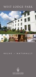 West Lodge Park Hotel Brochure... - Beales Hotels
