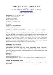 AGENCE RUDY RICCIOTTI ARCHITECTE DPLG ... - Palazzo Ducale